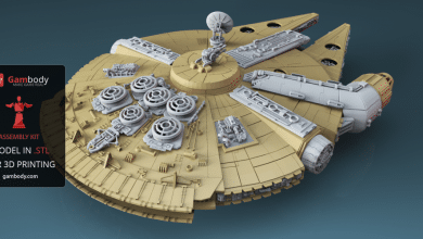 Photo of Millenium Falcon Recreated as 1:34 Scale, Ludicrously Awesome, 3D Printable Replica