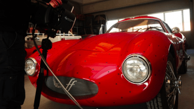 Photo of 3D scanning and reverse engineering used to create a Berlinetta Effeffe
