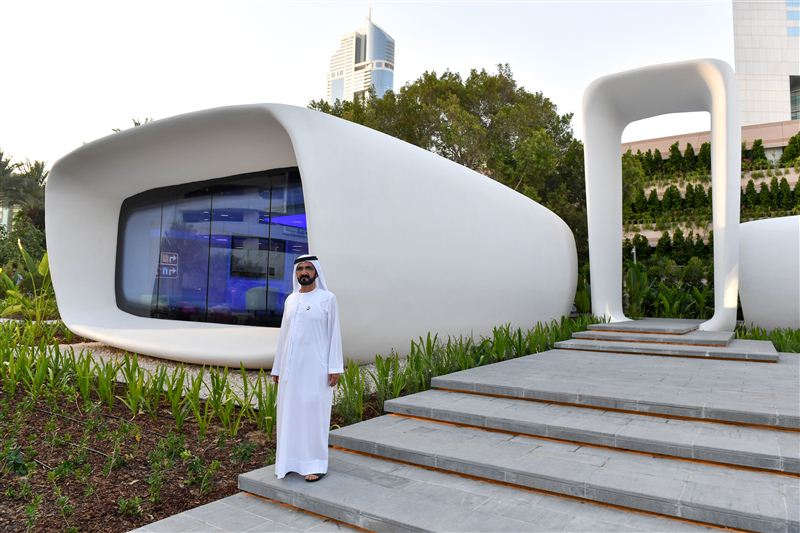 first 3d printed office building opens in dubai 3d printing media