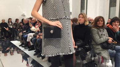 Photo of 3D Printed Pochette Strutting Its Digital Stuff on the Runaway in Milan