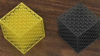 Photo of Photopolymer-graphene oxide composite 3D printed by stereolithography shows promise