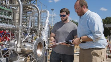 Photo of NASA Engineers Test Combustion Chamber On 3D Printed Rocket Engine Design