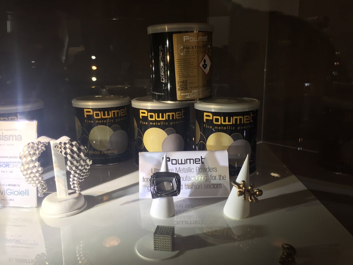 Powmet powders for direct 3D printed Jewelry