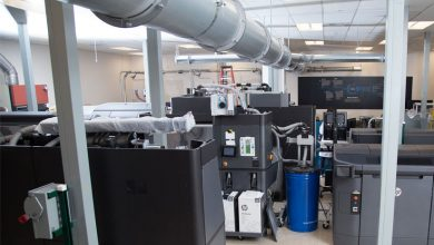 Photo of Inside HP's first 3D Open Materials and Applications Lab