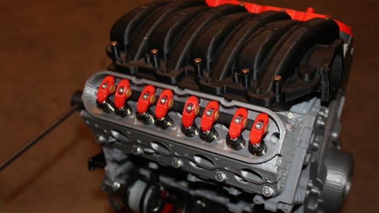 Almost) Fully 3D Printed Chevy Camaro LS3 V8 Engine Kit