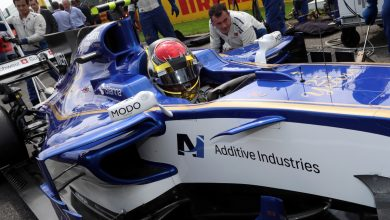 Photo of Additive Industries' branding featured on Sauber-Ferrari at Spa and Monza F1 Grand Prix