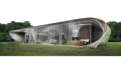 Photo of Branch Technology Presents Curve Appeal Vision for Freeform 3D Printed House