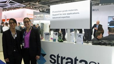 Zoubida El Hachemi, Sales Director Worldwide e-Xstream & Keren Ludomirski Zait, Senior Director of Business Development & Strategic Alliance, Stratasys