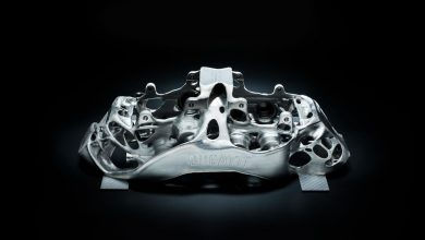 Photo of New Bugatti brake caliper Is the largest functional component 3D printed in titanium