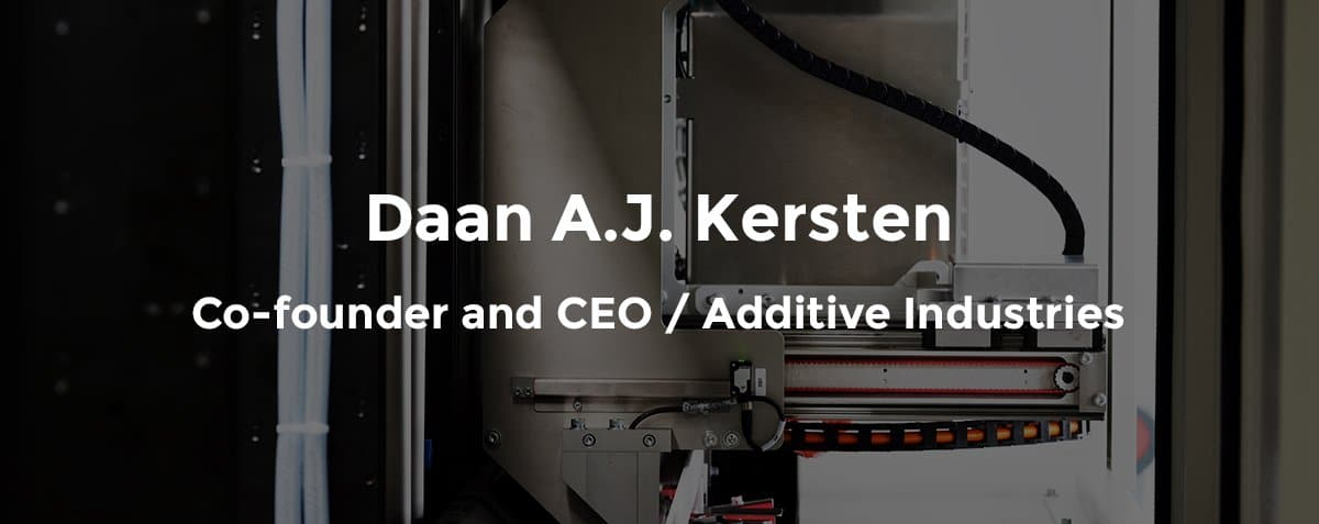Additive Industries automation expert Daan A.J. Kersten