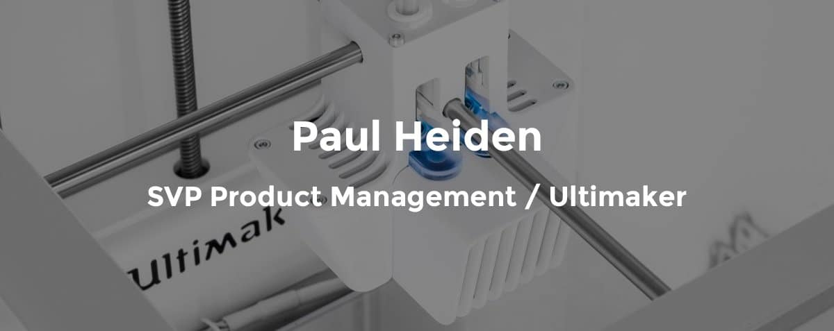 Ultimaker automation expert Paul Heiden