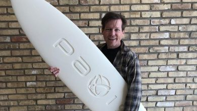 Photo of C.ideas' Paxis spinoff shows off one-part surfboard made with new WAV technology