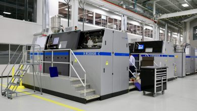 Photo of GE's Additive Technology Center in Ohio uses 90 metal 3D printers to make aircraft parts