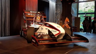 Photo of 3D printed race car parts by EnvisionTEC ensure smooth ride for German e-racing team