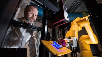 Photo of Sandia's Alinstante robotic work cell offers rapid testing and qualification for 3D printed parts