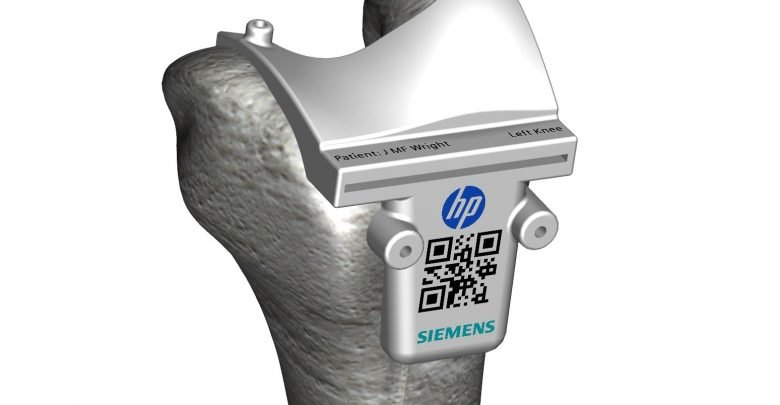 Siemens and HP - Color 3D Printed Surgincal Cutting Guide extended
