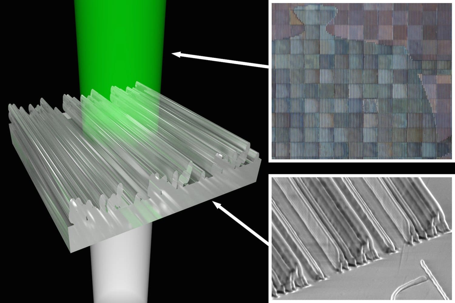 colour effects 3D printed nanostructures