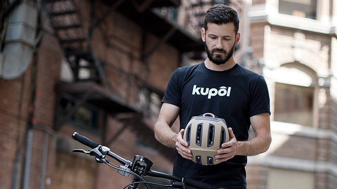 Kupol: 3D printed bike helmet with three-layer safety now on