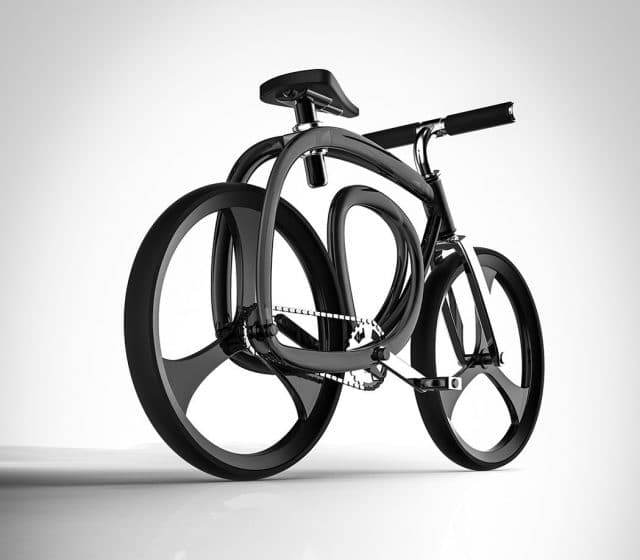 designer conceives continuous loop bicycle frame with 3d printing in