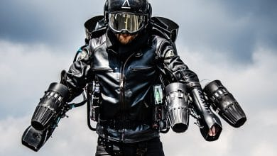 Photo of EOS and Gravity Industries took flight at Formnext with 3D printed Jet Suit