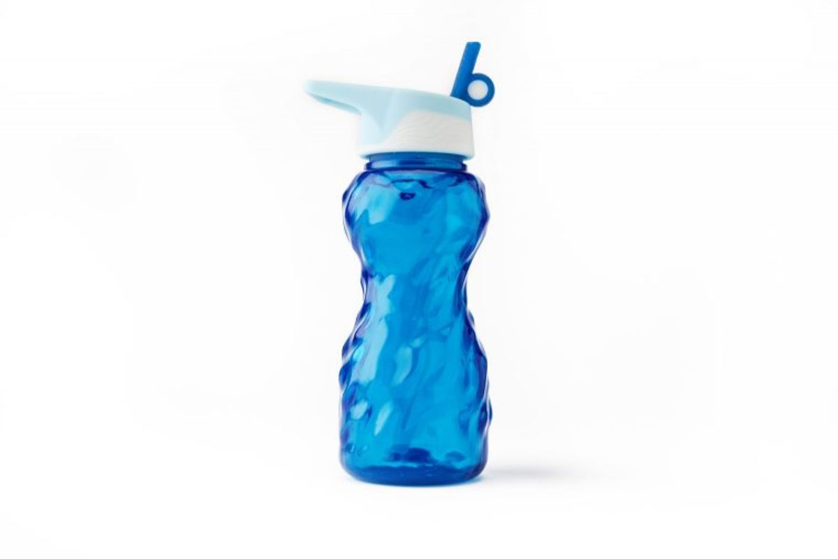 Water bottle printed with Stratasys J750 and J735 PolyJet 3D Printers