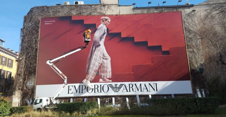 Armani Massivit Colorzenith billboard
