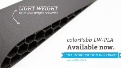 Photo of ColorFabb launches 'foaming' LW-PLA 3D printing filament