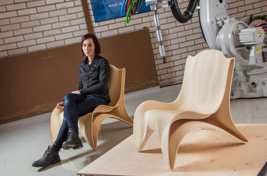 robotic 3D printing of wood