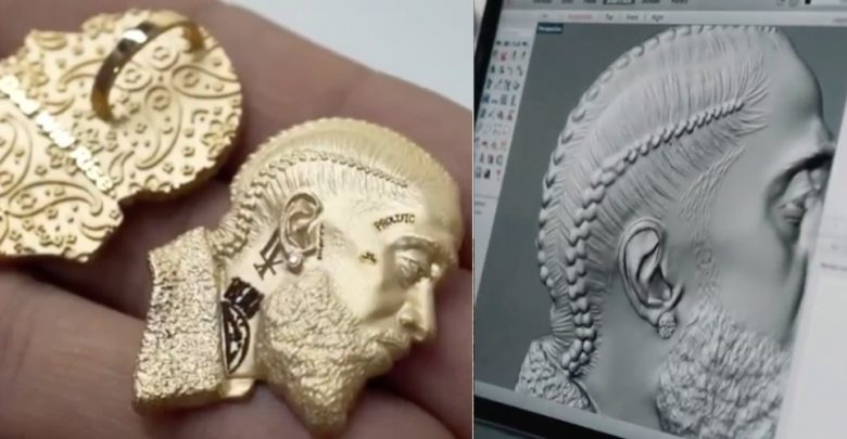 Photo of Charlamagne tha God commissioned a 3D printed pendant of Nipsey Hussle for Lauren London