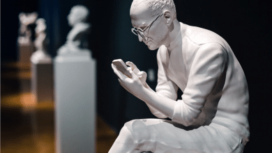 Photo of Sebastian ErraZuriz's 3D printed sculptures frame tech moguls in new light