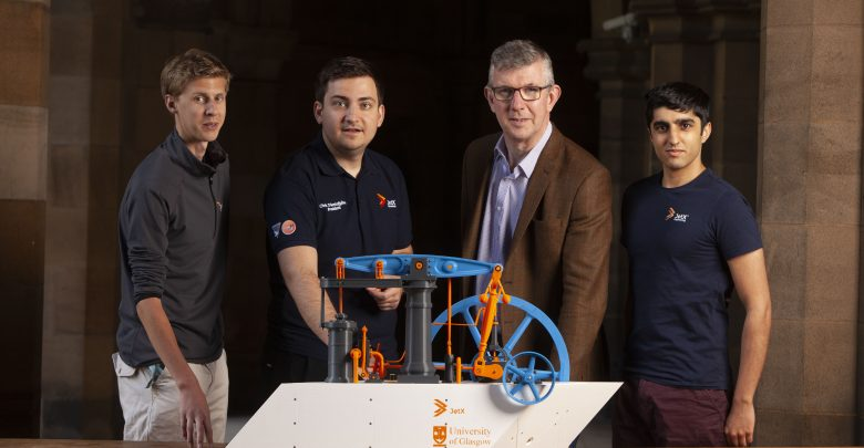 Photo of University of Glasgow's JetX team 3D prints 18th century steam engine model