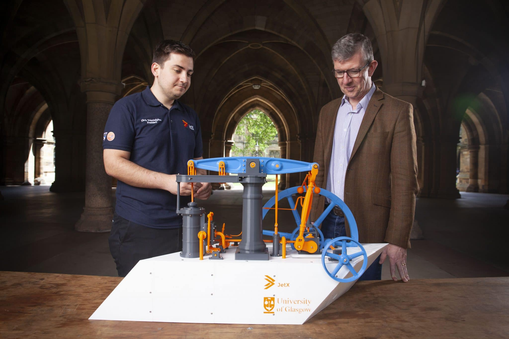 JetX University of Glasgow steam engine