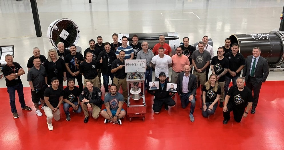 Rutherford Rocket Lab 100th engine