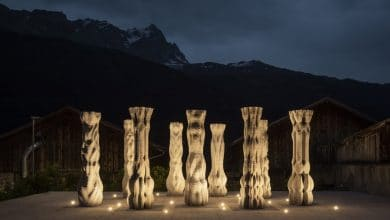Photo of Digital Building Technologies 3D prints Concrete Choreography for Origen Festival in Switzerland