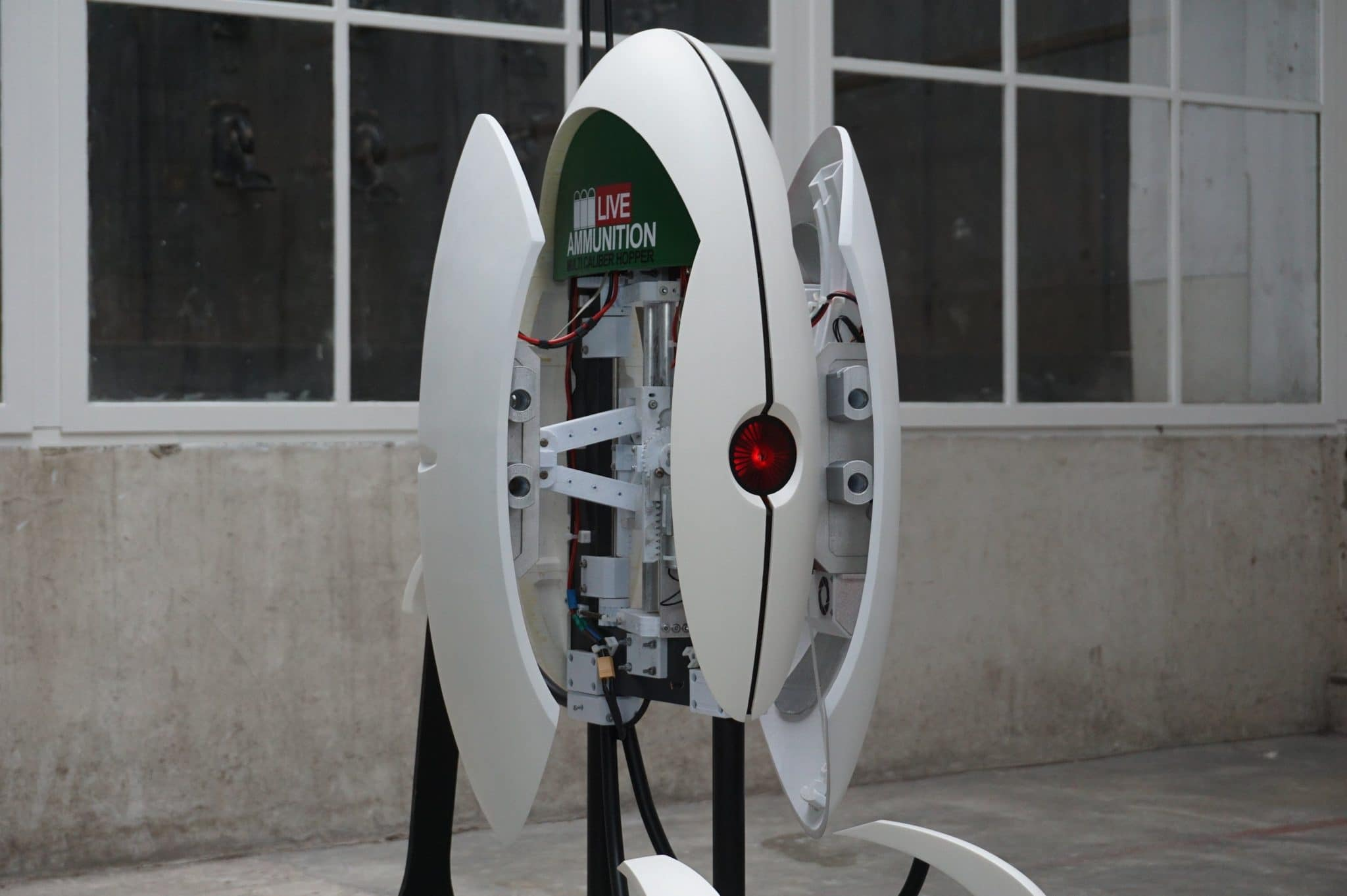 functional, life-size, fully 3D printed Portal turret