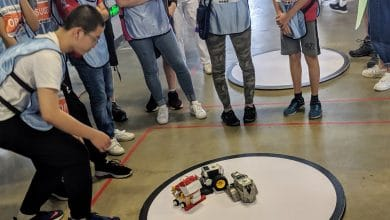 Photo of Eighth-graders compete at RoboRAVE with 3D printed robot