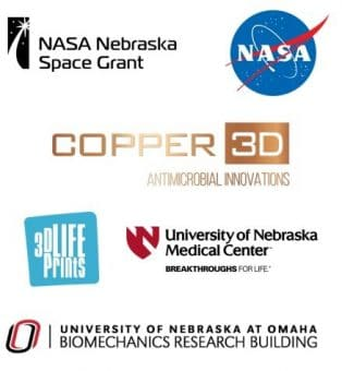 NASA Nebraska Copper3D 3D Lifeprints challenge