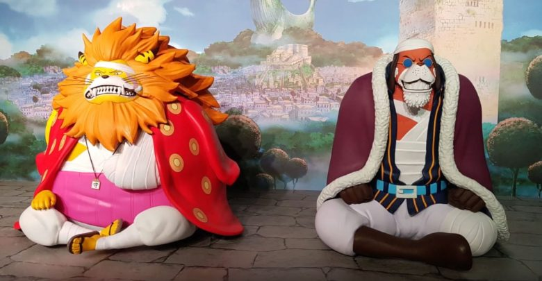 Photo of One Piece characters 3D printed to real-life size for 20th anniversary of manga series