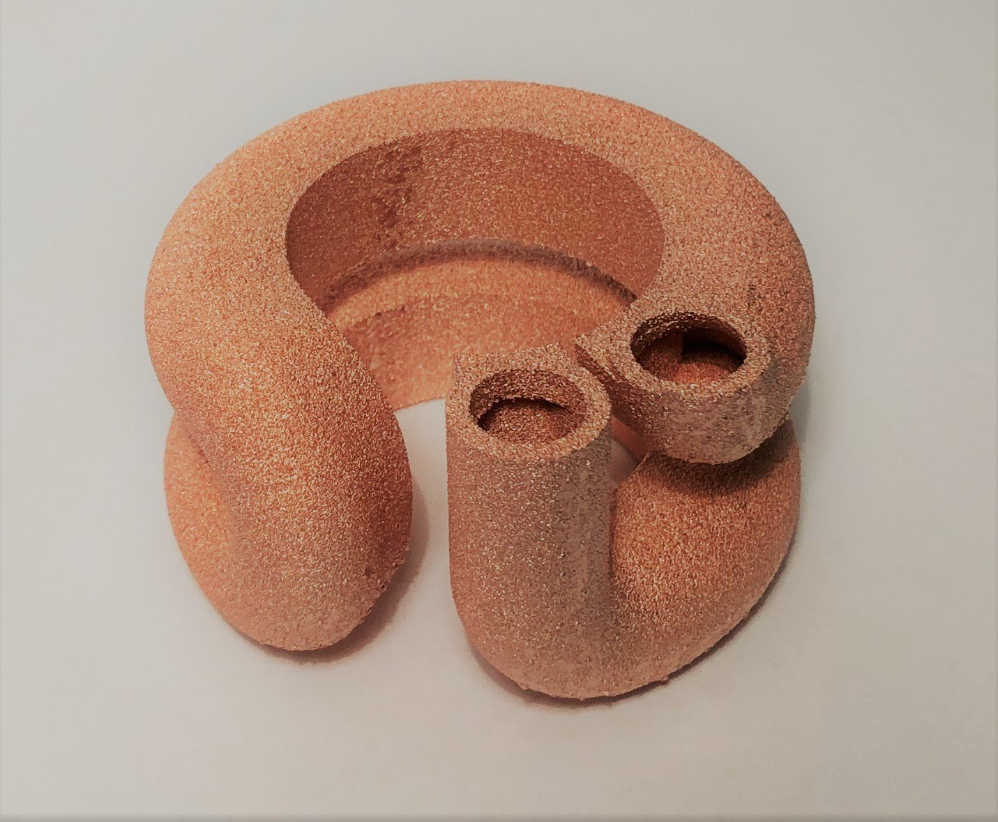 GE Additive pure copper D-material