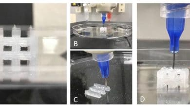 Photo of Advanced Solutions demonstrates 3D tissue constructs using PDMS bioprinting