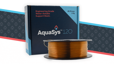 Photo of New Aquasys120 water-soluble support filament could open new era for extrusion 3D printing