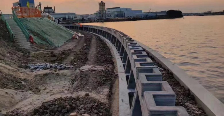 Photo of Winsun completes world's first, 500 meters long, 3D printed river revetment wall