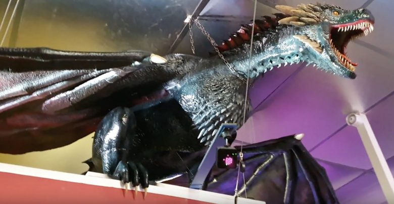 Photo of Someone 3D printed a life-size teenage Drogon from Games of Thrones