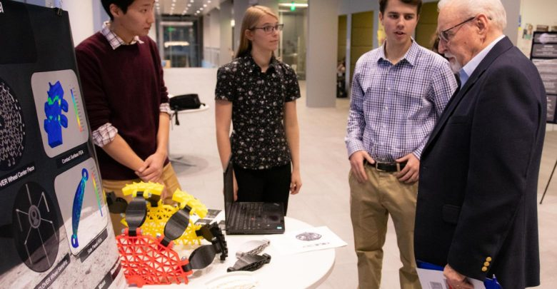 Photo of Mines students win $3K for 3D printed lunar rover wheel design