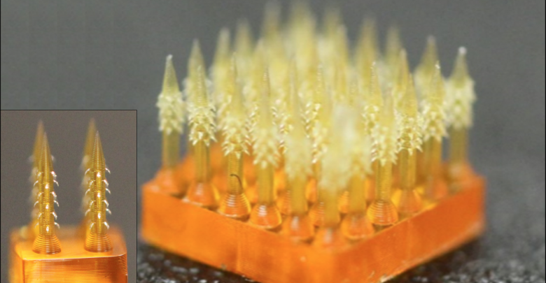 Photo of 4D printed microneedles offer painless solution for shots