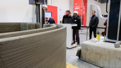 Photo of COBOD and PERI 3D print 3.5 houses in 4 days at Bautec exhibition