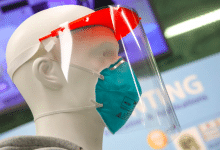 Photo of 3D printed face shields to protect Hong Kong medical staff from coronavirus