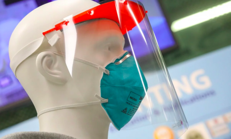 Coronavirus 3D printed face shield