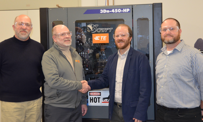 Photo of TE Connectivity donates $350K nScrypt 3D printer to Penn State