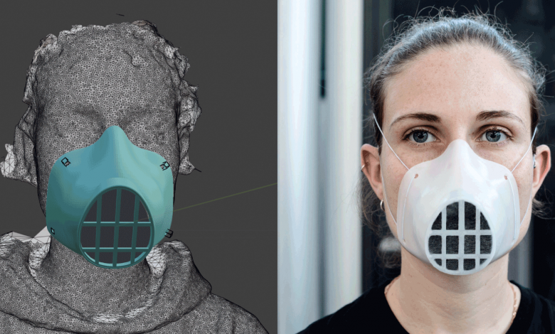 WASP 3D printed face mask